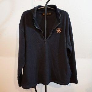 Ariat Fleece 1/4 Zip Pullover Work Wear Size XL